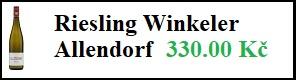 Riesling Winkeler – Allendorf  0,75l