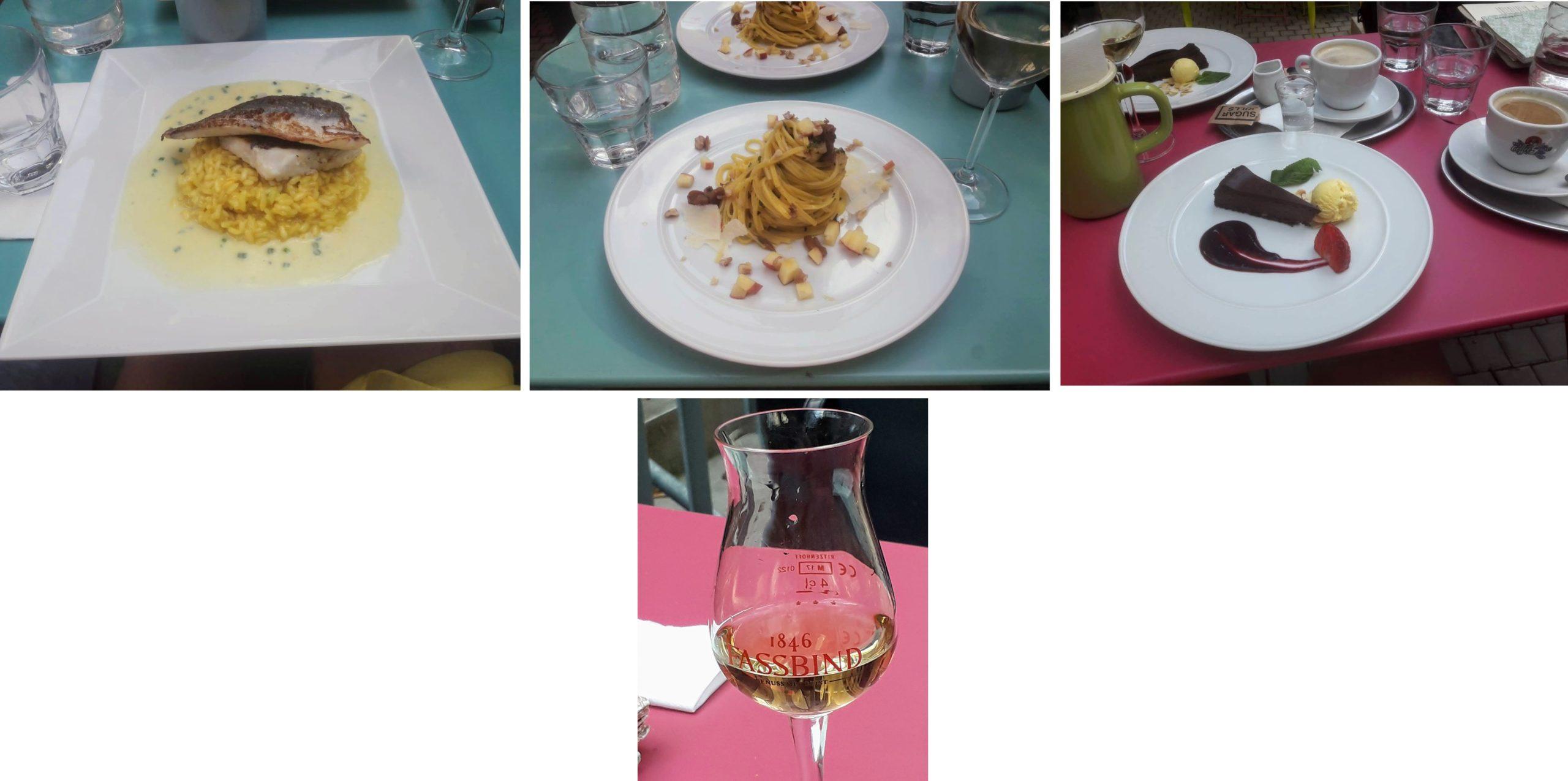 Krásné odpoledne na zahrádce s dobrým jídlem a dobrým vínem